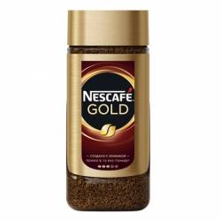 Кофе Nescafe Gold натур. раств. субл. стекл. банка 95г