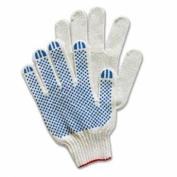 Перчатки трикотажные х/б белые с ПВХ покрытием