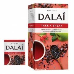 Чай Dalai Тэйк э брэйк черный шиповник/яблоко 25пак по 1,5г