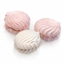 Зефир бело-розовый вес