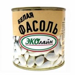 Фасоль белая натуральная ЭКОлайн ж/б 400г