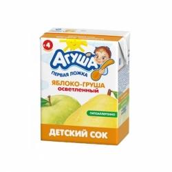 Сок Агуша яблочно-грушевый с 4мес 200г