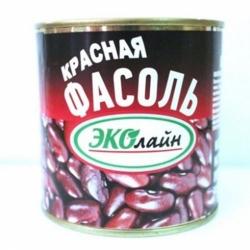 Фасоль красная натуральная ЭКОлайн ж/б 400г