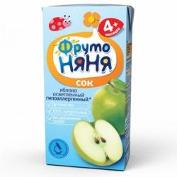 Сок ФрутоНяня яблочный осветленный 200г