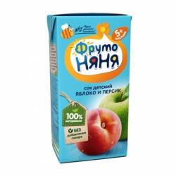 Сок Фруто-няня-яблоко+персик 0,2л