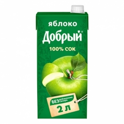 Сок Добрый яблочный 2л