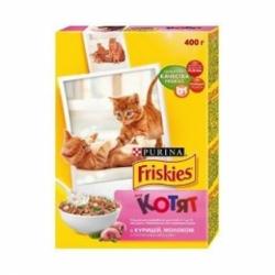 Фрискис  для котят курица, молоко, овощи 400г