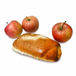 Булочка с яблоками 110г