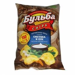 Чипсы Бульба chips вкус сметаны/лука 150г