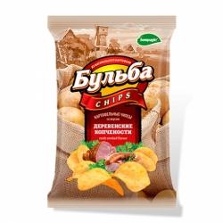 Чипсы Бульба chips вкус деревенских копченостей 150г