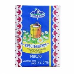 Масло Крестьянское 72,5% сладкосливочное несоленое 180г