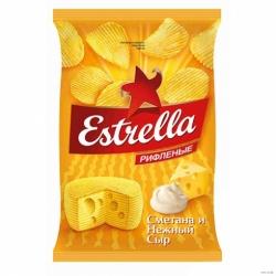 Чипсы Estrella вкус сметаны/сыра 125г