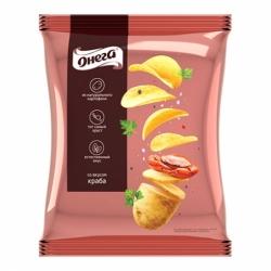 Чипсы Онега вк.краба из сырого картофеля 150г