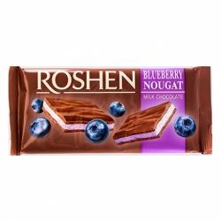 Шоколад Roshen молочный с черничной нугой 90г