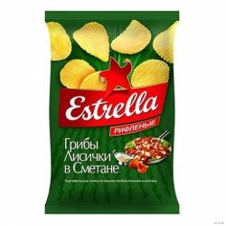 Чипсы Estrella вкус лисичек в сметане 125г