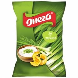 Чипсы Снеки Онега вкус лука со сметаной 110г