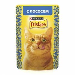 Фрискес д/взр.кошек с лососем в подливе 85г
