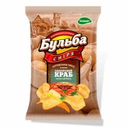 Бульба chips вкус заморского краба 150г