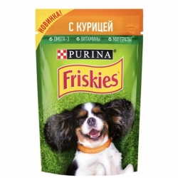 Корм д/животных Friskies д/собак с курицей в подливе