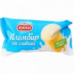 Мороженное Юкки Пломбир на сливках ваниль ваф.ст. 75г