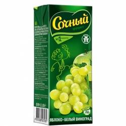 Нектар Сочный фрукт ябл.-вин.бел.сортов осв. 0,2л