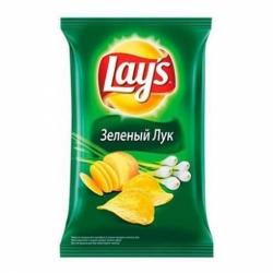 Чипсы Лейз Молодой зеленый лук 90г