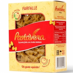 Макароны Pastavera Бантики гр.А 450г.