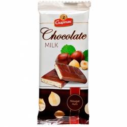Шоколад Молочный Ореховая нуга 90 г.