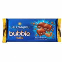 Шоколад Millennium Bubble nuts пор.мол.с дроб.миндалем 70г