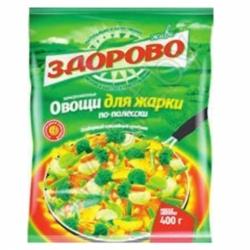 Овощи д/жарки по-полесски Здорово 400г