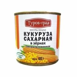 Кукуруза Сахарная 1с ТМ Туровщина ж/б 400г