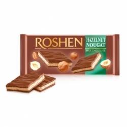 Шоколад Roshen молочный с ореховой нугой 90г