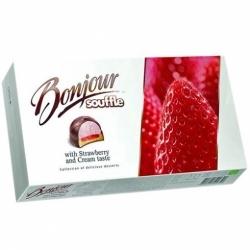 Десерт Бонжур Суфле клубника со сливками 232г